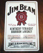 JIM BEAM, Blechschild, WHISKY, BOURBON , USA, WHITE LABEL