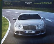 Bentley Car Sales Brochure Continental GT and Convertible Hardcover Book England