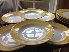 CH FIELD HAVILAND PARLON LIMOGES Yellow EDITE PAR Soup Bowl Set of 6