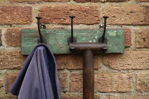 Vintage Reclaimed Wooden Coat Hooks, Tool Rack, Potting Shed Storage #5