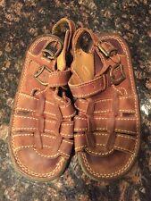 Dr. Martens  Boys Sandals Shoes 6447 Size 12 Brown Buckle Strap