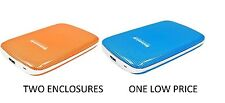 "MATSUNICHI USB 3.0 HDD HARD DRIVE EXTERNAL ENCLOSURE 2.5"" SATA ORANGE & BLUE NEW"