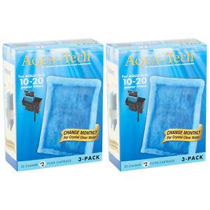 x6 AQUA-TECH 10-20 EZ-Change FILTER CARTRIDGE Fish Aquarium Activated Carbon NEW
