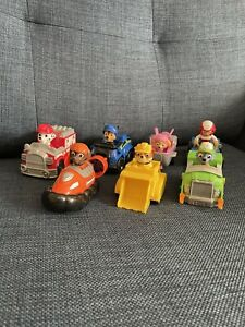 """Paw Patrol Vehicle Bundle X7 With Characters - Approx. 4"""""""