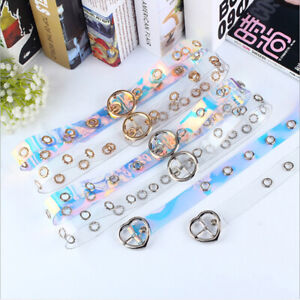 New Women Transparent Belt Laser Casual Decoration Pin  Fashion Lady GirlsWS.RI