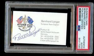 Bernhard Langer signed autograph Ryder Cup Team Captain Business Card PSA Slab