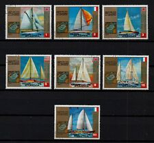 EQUATORIAL GUINEA, USED SET OF 7 TRANSATLANTIC YACHT RACE, SAILING BOATS 1973