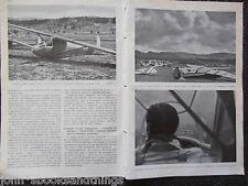 1939 ALI SILENZIOSE VOLO A VELA ITALIANO RADUNO AVIAZIONE AEREI AVIATORI PILOTA