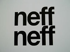 2 x Neff Text Logo Decals - Vinyl Stickers Ski Surf Skateboard Snowboard Window