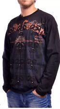 NWT $98 Mondo Long Sleeve Shirt Size Medium , Black With Embroidery