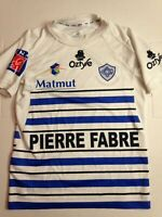 MAILLOT OZTYLE CASTRES OLYMPIQUE 2012 - PIERRE FABRE // TAILLE 12/14 ANS