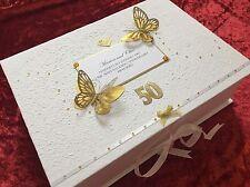 Golden Wedding Gift Personalised Luxury Mum & Dad 50th Anniversary Keepsake
