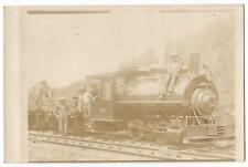 Massillon Ohio OH ~ Swanson Bros. Railroad Contractors Work Train RPPC c.1910