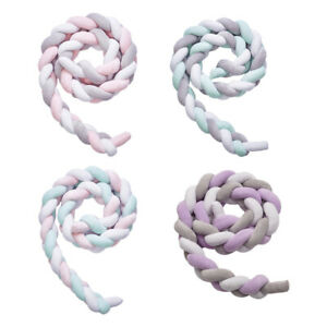 2m Soft Knot Plush Pillow Baby Bed Bumper Nursery Safe for Baby Crib Travel