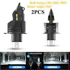 2x35W H4 9003 LED Car SUV Headlight Bulb 6000LM 6500K Hi/Lo Beam Light 360°Angle