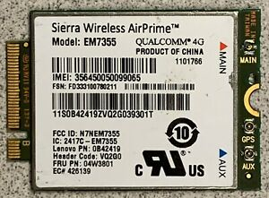 Sierra Wireless AirPrime EM7355 Gobi 4G LTE Module NGFF WWAN Card