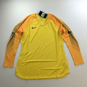 Nike Gardien II Goalkeeper LS Jersey Tour Yellow AR9769 719  Womens Size XL