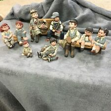 Sarah's Attic~9 figurines, 3 benches, What a great looking set for a collection.