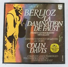 "Berlioz Damnation of Faust Davis LSO 2x 7"" Reel 4T 7 1/2 ips Dolby Tapes TESTED"