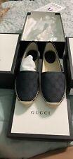 Gucci Espadrille Black Suede Size 37