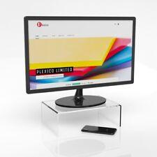 Perspex Monitor Stand / TV Riser / Display Screen Riser W/D/H 30cm 20cm 10cm