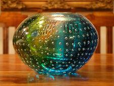 Teelicht Windlicht Kristall Glas Kunst Luxus Murano Stil Handarbeit Edel Vase