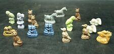 Wade England Tea Figurines Lot Of 17 Whimsies Ceramic (D3)