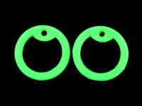 4 Green Glow in Dark Silicone Military Army Dog Tag Silencers Rubber Silencer