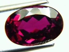 RARE 6x4mm OVAL-FACET NATURAL AFRICAN RED/PURPLE TOURMALINE GEMSTONE