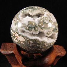 STUNNING DRUZY  Ocean Jasper Sphere - Madagascar - EOJ832