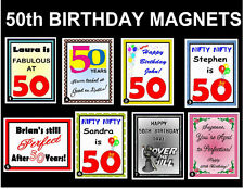 PERSONALIZED 50TH BIRTHDAY MAGNET