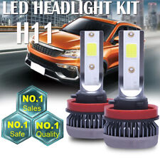 2PCS H11 H9 H8 Mini Ultra-light LED Headlight Hi-Low Beam Fog Bulbs 120W 26000LM