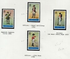 TURKS AND CAICOS STAMPS  MILITARY UNIFORMS MINT NEVER HINGED