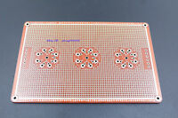 8 pins / 9 pins tube amplifier universal Hole PCB  2mm double-sided gold-plated