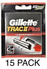 Gillette Trac II Plus Razor Blade Refills 15 CARTRIDGES (Bulk Packaging) USA