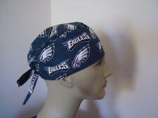 Surgical Scrub Hat/ Cap -NFL-PHILADELPHIA EAGLES - One size- Handmade- Men Women
