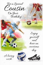 SPECIAL COUSIN BIRTHDAY CARD****FOOTBALL THEME***1ST CLASS POST** (Q1)