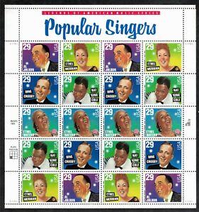 US Miniature Sheets, Popular Singers, Scott #2853a