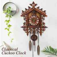 Antique Vintage Cuckoo Wall Clock Art Swing Handcraft Home Restaurant Decor 2021