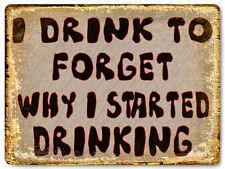 BEER JOKE METAL sign funny display BAR TAVERN vintage style mancave wall art 598