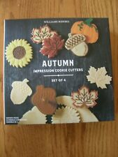 Williams Sonoma Autumn/Fall Impression Cookie Stamp/Cutters-Acorn,Sunflower,Leaf