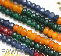 """New 2x4mm Faceted Rondelle Multicolor Gemstone apatite Beads Strand 15"""""""