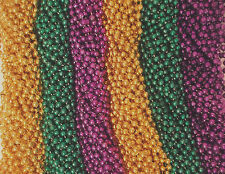 144 Purple Green Gold Mardi Gras Beads Necklaces 12 dozen Lot