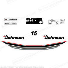 Johnson 1985 15hp Outboard Decal Kit - Discontinued Decal Reproductions! 15 hp