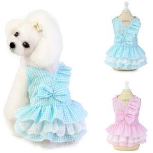 Small Pet Dog Cat Summer Lace Skirt Princess Tutu Dress Puppy Clothes Apparel.