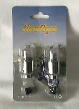Brand New Sealed Pack of 2 Wheel Tyre Fireflys - Light Up Valve Air Cap Cover