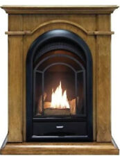 ProCom Ventless Dual Fuel Fireplace System With Corner Combo - Toasted Almond Fi