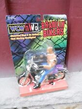 MIP wrestling WCW/NWO Brawlin' Bikers Goldberg Figure & Motorcycle Toy Biz NBS13