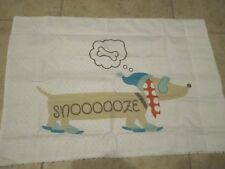Dachshund Sausage Dog Snooze with Hat Scarf Pillowcases Pair Set Of 2 New