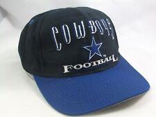 Cowboys Football NFL Spell Out Hat VTG Black Blue Logo 7 Snapback Baseball Cap